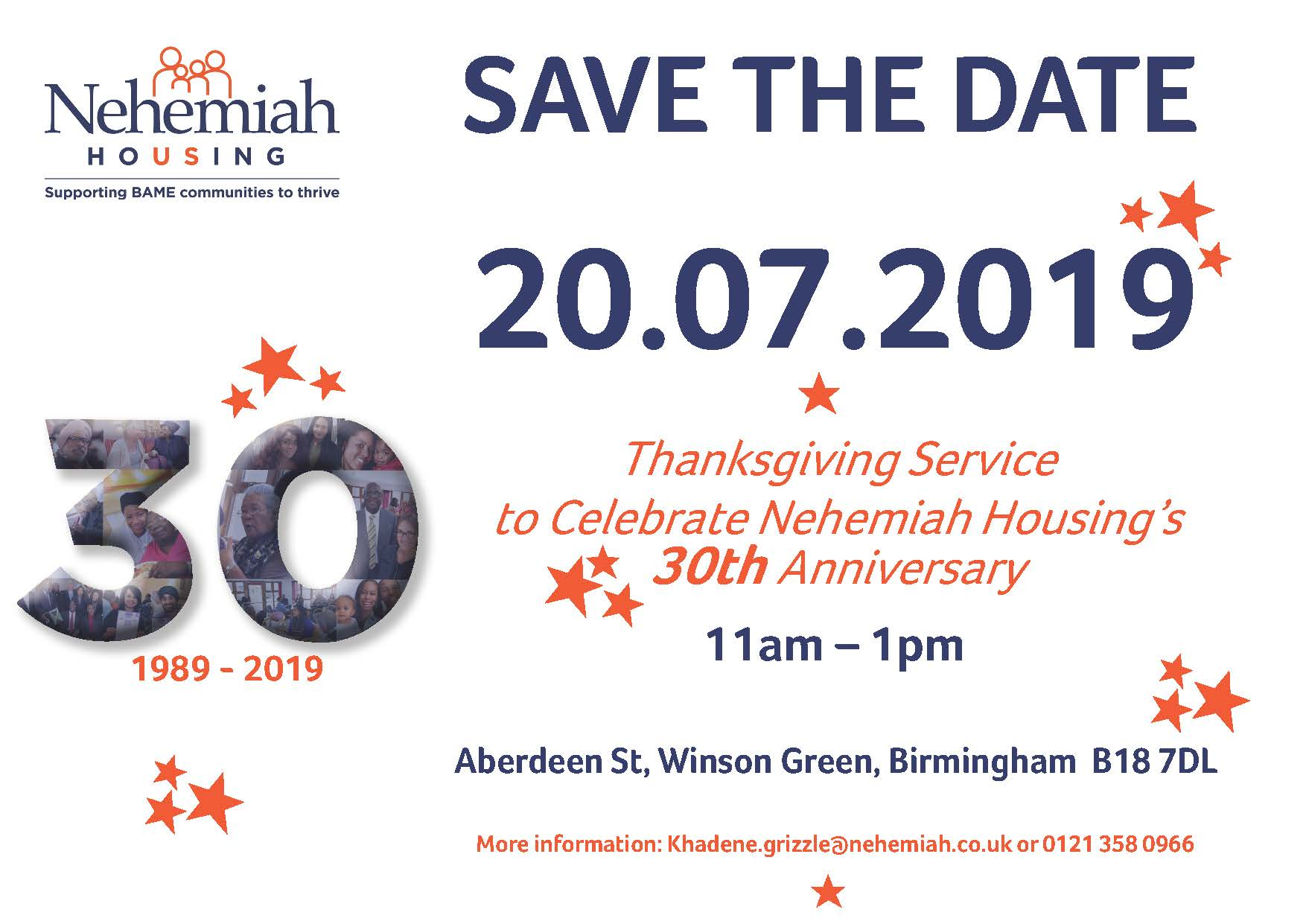 Thanksgiving Service to Celebrate our 30th Anniversary